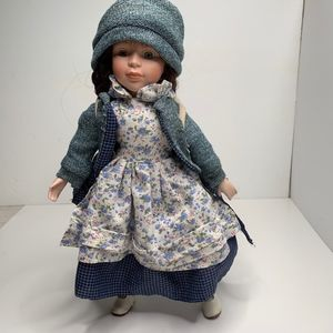 Other - Porcelain Doll with Bear Backpack
